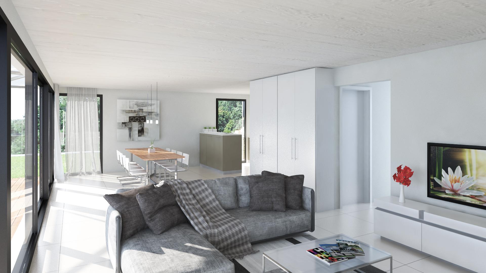 3-20-0004 Villa Lotus - Interno soggiorno-cucina